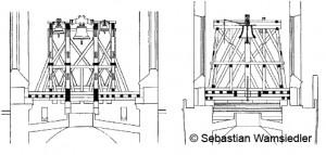 Konstruktionszeichnung Glockenstuhl