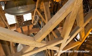Zimmermannsmäßig errichteter Glockenstuhlneubau von St. Marien zu Neubrandenburg