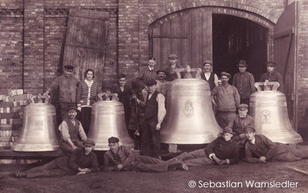 Foto von 1924 aus dem Nachlass der Glockengießerei Radler, jetzt Archiv S. Wamsiedler
