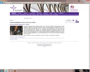 Screenshot der Internetseite der Propstei Braunschweig vom 24.11.2011
