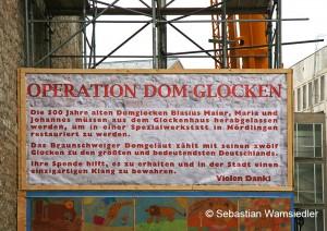 Werbeplakat für Glockenspendenaktion