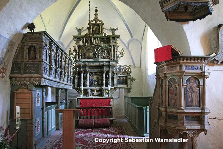 Kirche Kittendorf - Innenansicht nach Osten