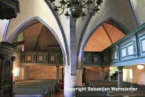 Kirche Kittendorf - Innenansicht nach Westen