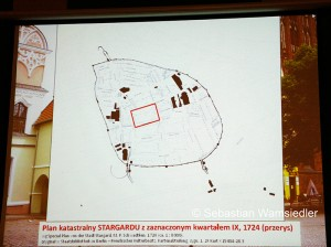 Archäologische Grabungskarte zu Glockengussstätten in Stargard