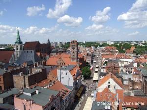 Blick über die Thorner Altstadt vom Turm der Kathedrale