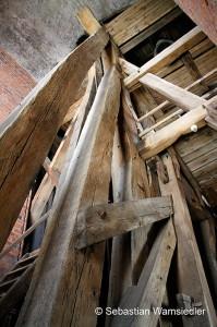 Glockenstuhl in der unteren Etage
