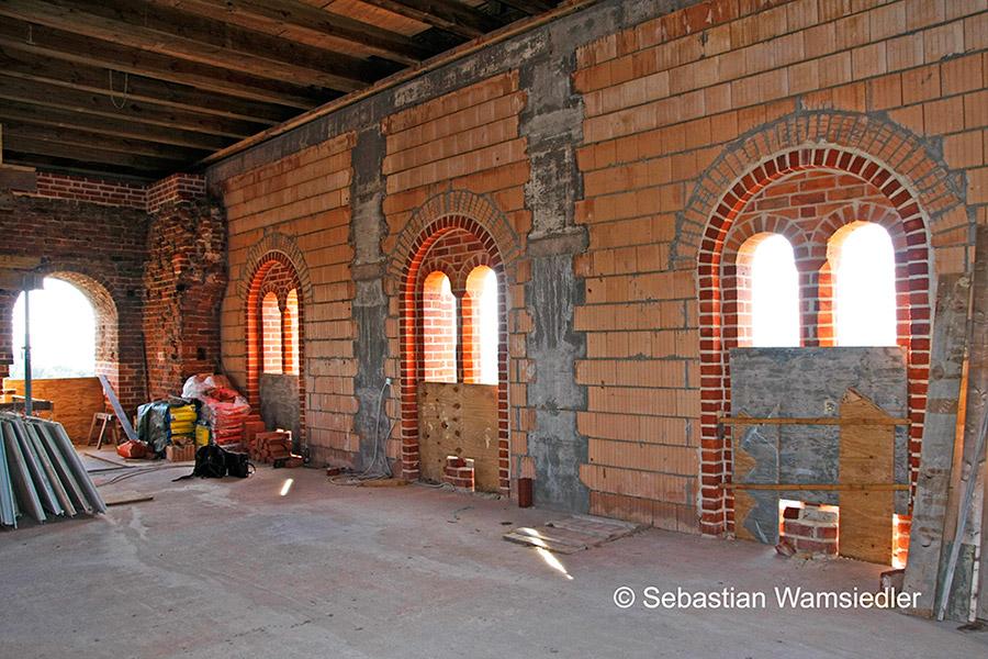 Die Glockenstube der Kirche zu Sandau
