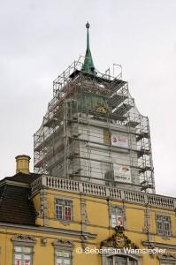 Eingerüsteter Oldenburger Schlossturm