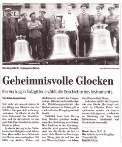 Zeitungsankündigung für Salzgitter