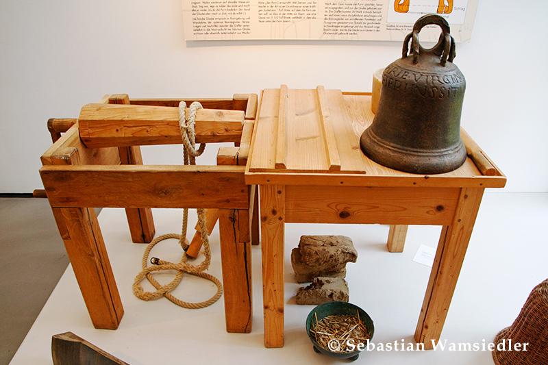 Drehspindel für die Anfertigung der Glockenform nach Theophilus