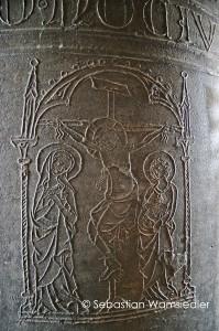 Glockenritzung der großen Glocke der Nikolaikirche Quedlinburg aus dem Jahr 1333