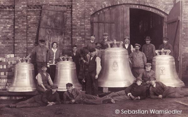 Foto von 1924 aus dem Nachlass der Glockengießerei Radler