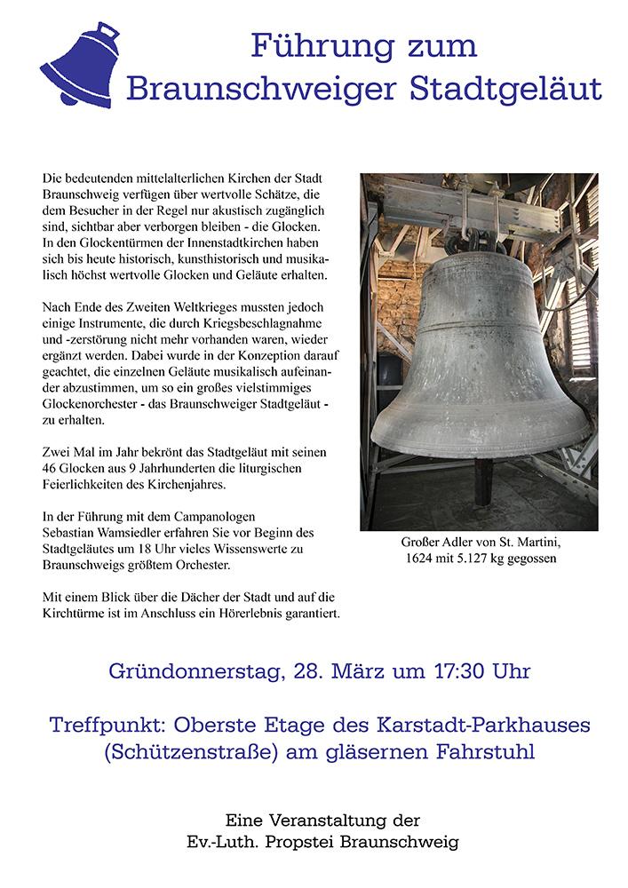 Plakat Führung Braunschweig Stadtgeläut